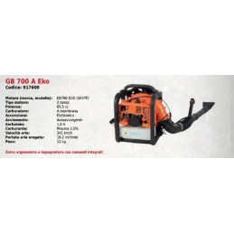Blower, back-pack GB 700...