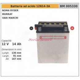 Acid battery 12N14-3A for...