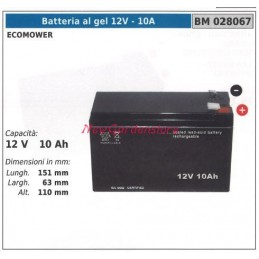 GEL battery 12V-10A ecomower 12V 10AH 028067