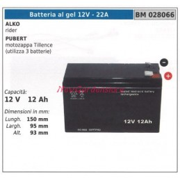 GEL battery 12V-22A ALKO...