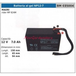 GEL battery NP12-7 for MAORI rider MP 824M 12V 7.0 Ah 035004