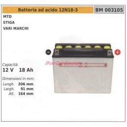 Acid battery 12N18-3 for...