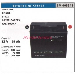 GEL battery CP18-12 for...