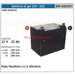 GEL battery 12V - 22A for...