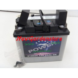 Battery starter mower lawn mower 310024 12V/32A polo positive RIGHT