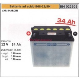 Acid battery b68-12/sm for...