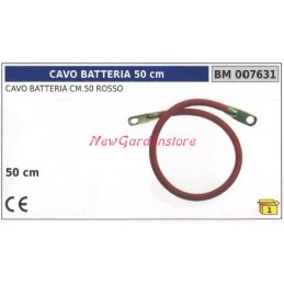 Battery cable red 50cm 007631