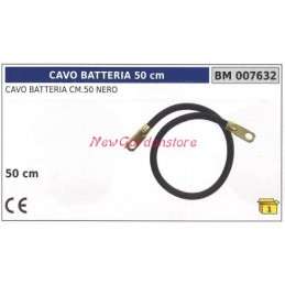 Battery cable black 50cm...