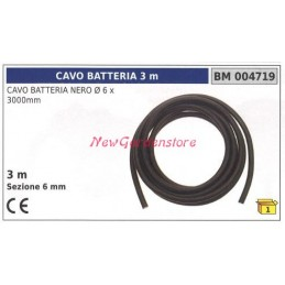 Battery cable black Ø6 x...